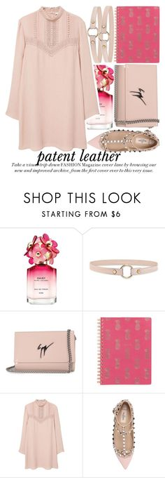 """CITY SLICKERS: PATENT LEATHER"" by noraaaaaaaaa ❤ liked on Polyvore featuring Marc Jacobs, Forever 21, Giuseppe Zanotti, MANGO, Valentino, Spring and patentleather"