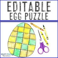 EDITABLE Egg Puzzle - Create your own Easter Activity on ANY topic - math    ! |  1st, 2nd, 3rd, 4th, 5th, 7th, 8th grade, Activities, Easter, English Language Arts, Fun Stuff, Games, Homeschool, Math, Middle School 5th Grade Classroom, Special Education Classroom, Easter Activities, Fun Activities, Shape Puzzles, 21st Century Skills, Critical Thinking Skills, English Language Arts, Problem And Solution