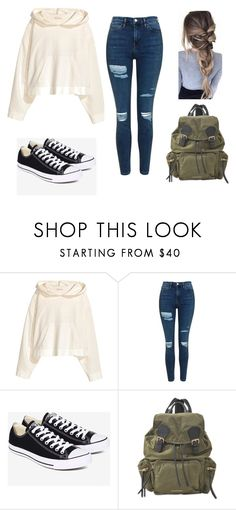 """Unnamed #45"" by happyfromfairytail ❤ liked on Polyvore featuring Topshop, Converse and Burberry"