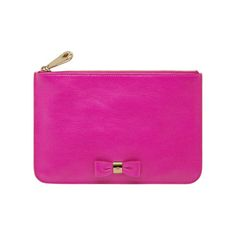 Mulberry - Bow Pouch in Mulberry Pink Glossy Goat