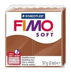 Staedtler – Fimo Soft – Pain Pâte à Modeler 57 g Caramel: FIMO Pâte à modeler SOFT, à cuire, caramel, 56 gà cuire à 110 degrés pendant 30…