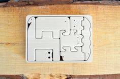 Organic Wooden Animal Puzzle - Set of 7 Wooden Animals #etsy