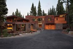 """escapekit: """" Martis Camp House Architecture firm Concreteworks designed this modern vacation home located in the luxury community of Martis Camp between Truckee and North Lake Tahoe in California. Houses Architecture, Amazing Architecture, Interior Architecture, Mountain Modern, Mountain Homes, Lake Tahoe, Log Homes, Cabin Homes, Exterior Design"""