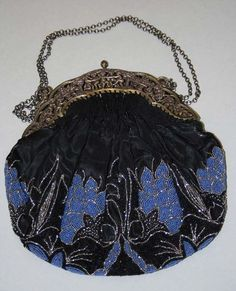Ca. 1900 purse; still would covet, display, & enjoy whilst accessorizing my dressiest garb today!