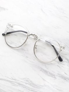 Shop Clear Frame Glasses With Clear Lens online. SheIn offers Clear Frame Glasse… Shop Clear Frame Glasses With Clear Lens online. SheIn offers Clear Frame Glasses With Clear Lens & more to fit your fashionable needs. Glasses Frames For Girl, Kids Glasses, Fake Glasses, Cool Glasses, New Glasses, Glasses Style, Cute Sunglasses, Cat Eye Sunglasses, Sunglasses Women