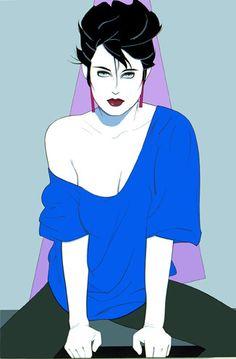 Patrick Nagel Blue Sweater