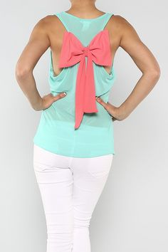 Solid Bow Top - so cuteeee ;) gives you a reason to pull ya hair up :) Wholesale Fashion, Wholesale Clothing, Spring Style, Spring Summer Fashion, Fashion Beauty, Women's Fashion, Bow Tops, Cute Shirts, Cute Tops