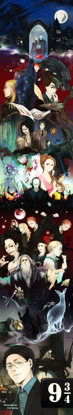 Harry Potter summary art