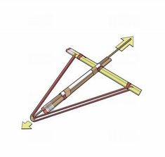 How to make a pencil crossbow