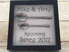 Spooning Since Shadow Box Personalized by AnnaAnnesBoutique