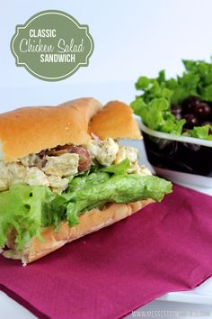 Classic Chicken Salad Sandwich from Messes to Memories