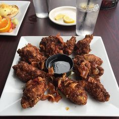 [I ATE] Brunch Buffalo Wings w/ maple syrup dip. Chicken wings breaded with French toast crumbs and fried with maple bacon. #food #foodporn #recipe #cooking #recipes #foodie #healthy #cook #health #yummy #delicious