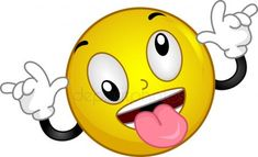 Picture of Illustration of a Smiley Goofing Around stock photo, images and stock photography. Smiley Face Images, Emoji Images, Funny Emoji Faces, Funny Emoticons, Facebook Emoticons, Smiley T Shirt, Big Emoji, Emojis Meanings, Emoji Characters