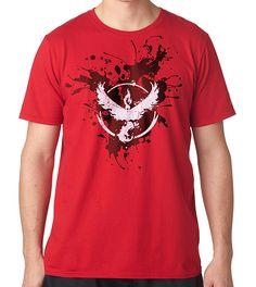 Camiseta Pokemon Go Team Valor Splatter