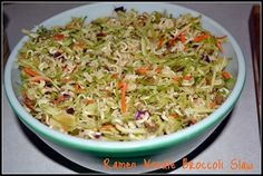 Ramen Noodle Broccoli Slaw