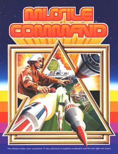 The Arcade Flyer Archive - Video Game Flyers: Missile Command, Atari, Inc. Vintage Video Games, Classic Video Games, Retro Video Games, Vintage Games, Retro Games, Video Game Posters, Video Game Art, 80s Posters, Game Boy
