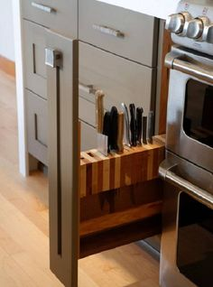 A knife block in your kitchen