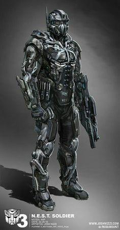Robot concept art sci fi future soldier 51 Ideas for 2019 Robot Concept Art, Armor Concept, Science Fiction, Foto Fantasy, Futuristic Armour, Futuristic Helmet, Combat Armor, Future Soldier, Arte Robot