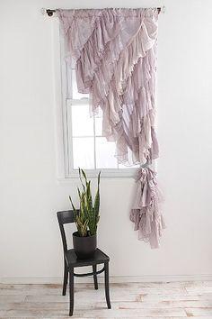 Angled Ruffle Curtain