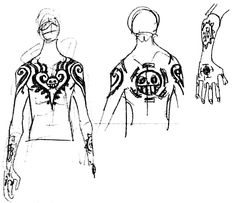 Trafalgar Law's tattoos
