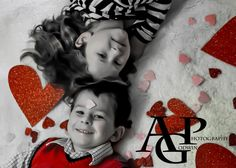 Valentine's Day Photography Sibling Photo Brother and Sister