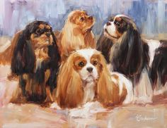 Beautiful portrait of a group of Cavaliers