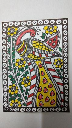 Madhubani Art, Madhubani Painting, Paper Mache Bowls, Peacock, Artworks, Sketches, Fashion Design, Drawings, Peafowl