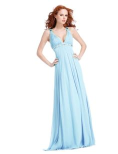 V-neck A-line Clarisse Prom Dress « Dress Adds Everyday