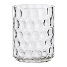 IKEA - GODKÄNNA, Vase/Windlicht, GODKÄNNA ist dekorativ als Vase und auch als Windlicht.Der warme Schein der Kerzenflamme schimmert dekorativ durch das strukturierte Glas.Mundgeblasen, jedes Exemplar wurde von einem talentierten Kunsthandwerker gefertigt.