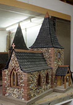 miniature stone church..