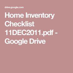 Home Inventory Checklist 11DEC2011.pdf - Google Drive