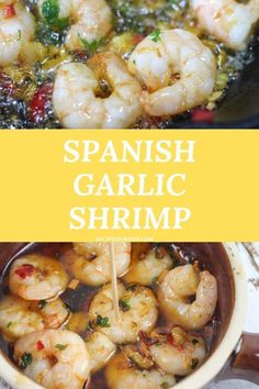 This delicious recipe for Spanish shrimp in garlic and chili oil will have you coming back for more. Spanish garlic prawns, spanish garlic prawns recipe, spanish tapas garlic prawns, camarones al ajillo spanish garlic prawns, chili garlic shrimp, chili garlic shrimp recipe, chili garlic shrimp stir fry, gambas al ajillo, prawns with garlic, chili garlic shrimp recipe, garlic chili shrimp Fast Dinner Recipes, Fast Recipes, Lunch Recipes, Healthy Dinner Recipes, Easy Meals For Kids, Fast Easy Meals, Easy Family Meals, Tapas Dishes, Dinner Dishes