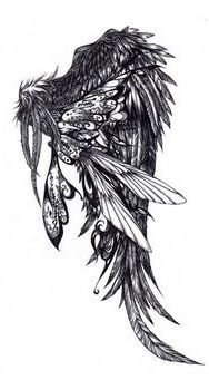 Tattoo Designs Are The Feathered Wings Done On Upper Back As Well