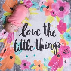 """Our """"Little Things"""" print is an exclusive design to Little & Luxe. It is inspired by a common parenthood journey. Amongst the sleepless nights, dirty diapers and never ending piles of laundry lie the little things. Their first breath, the first time they set their feet on the grass, seeing their faces light up when you come home.....those, those are the little things. In the midst of this crazy, busy world, our babies grow up in a flash right before our eyes. So take this mo..."""