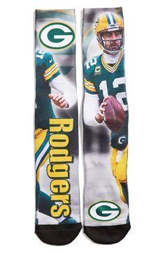 FBF Originals 'Green Bay Packers - Aaron Rodgers' Socks Packers Memes, Packers Funny, Packers Baby, Go Packers, Greenbay Packers, Packers Football, Football Team, Green Bay Football, Green Bay Packers Fans