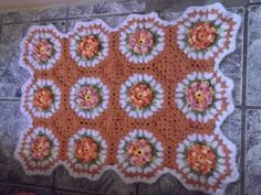 Artesanato: tapete laranja com barbante Barroco Decore