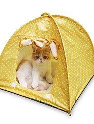 Gato Camas Animais de Estimação Capachos e Alcochoadas Tenda / Casual Verde / Rosa / Amarelo Terylene