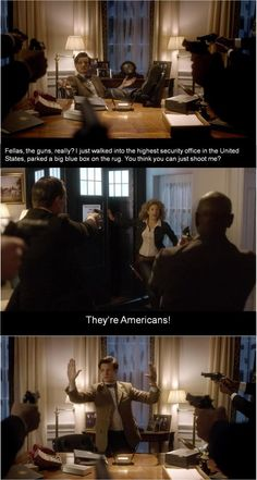 I have never really watched this show, but this fits us Americans pretty good.