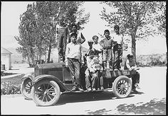 Photograph of children and grounds of Carson/Stewart Indian School., 1935?