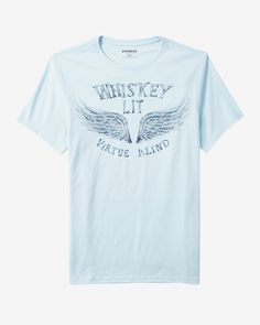 whiskey lit graphic tee