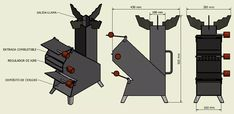 Risultati immagini per rocket stove plans Welding Crafts, Welding Projects, Wood Gas Stove, Wood Stoves, Rocket Stove Design, Rocket Mass Heater, Diy Rocket, Photo Tiles, Diy Christmas Decorations Easy
