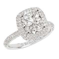 Square cut diamond engagement ring. I promise I'm nowhere near getting engaged, but this ring is beautiful