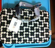 ORLA KIELY Poppy Cosmetic Cube Case Makeup Travel Beauty Bag Flowers Black  NWT 844f7ebc99c48