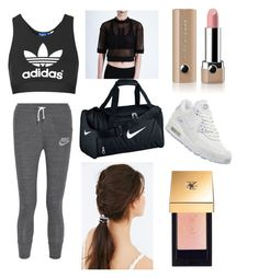 """""""Gym"""" by abbyyd ❤ liked on Polyvore featuring NIKE, Topshop, Marc Jacobs, Ultracor, Yves Saint Laurent and Urban Outfitters"""