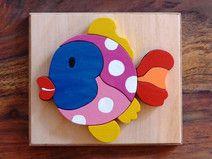 Holzpuzzle Fisch, Handarbeit