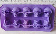 Skeleton Head tray molds---fun ice cube trays, chocolate molds, jello shapes, wax tart molds, or soaps. Bring in some fun for Halloween by creating your Tart Molds, Soap Molds, Skull Mold, Toil And Trouble, Chocolate Molds, Hermes Birkin, Some Fun, Halloween Fun, The Ordinary