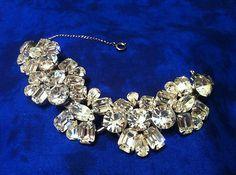 Eye Popping Vintage Juliana Multi Shaped Ice Rhinestone 5 Link Bracelet Amazing | eBay