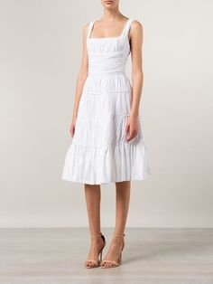 Rochas Pleated Flared Dress - Laboratoria - Farfetch.com