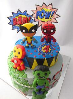 Fondant Marvel Superheroes - super cute!