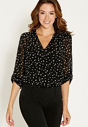 the perfect blouse in heart print - maurices.com